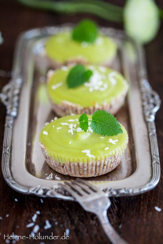 vegane Avocadotörtchen a la Key Lime Pie