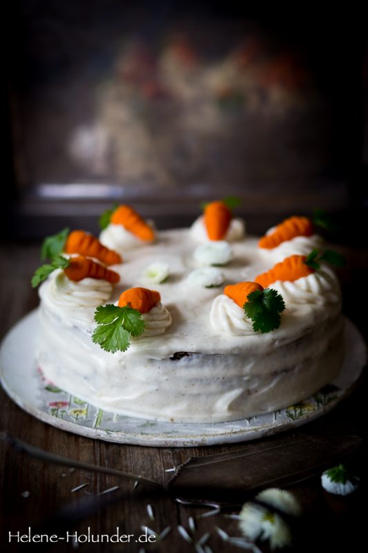 Carrot Cake, vegan, Helene Holunder