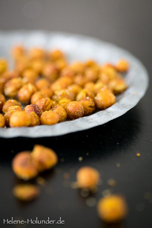 Protein Snack: Geröstete Kichererbsen, vegan, Helene Holunder