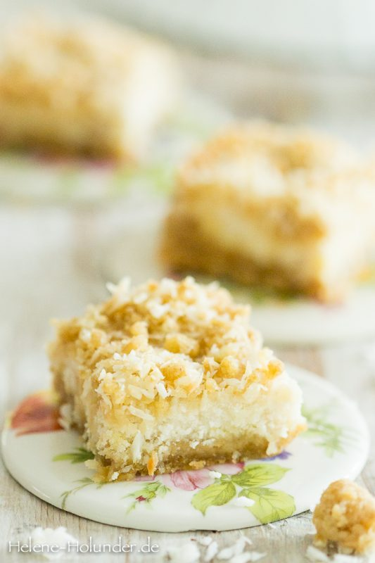 Lemon Bars, vegan, Helene Holunder