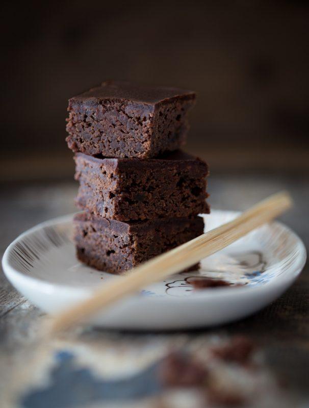 Miso Brownies, vegan, Helene Holunder