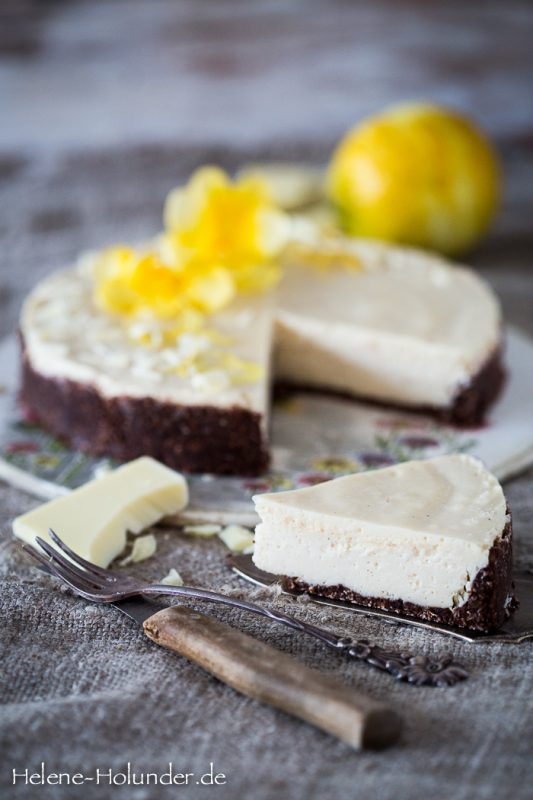 Zitronen Schokoladen Törtchen, vegan, Helene Holunder