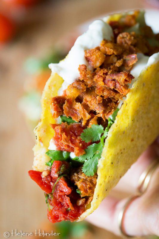 walnut meat, Taco, vegan, Helene Holunder