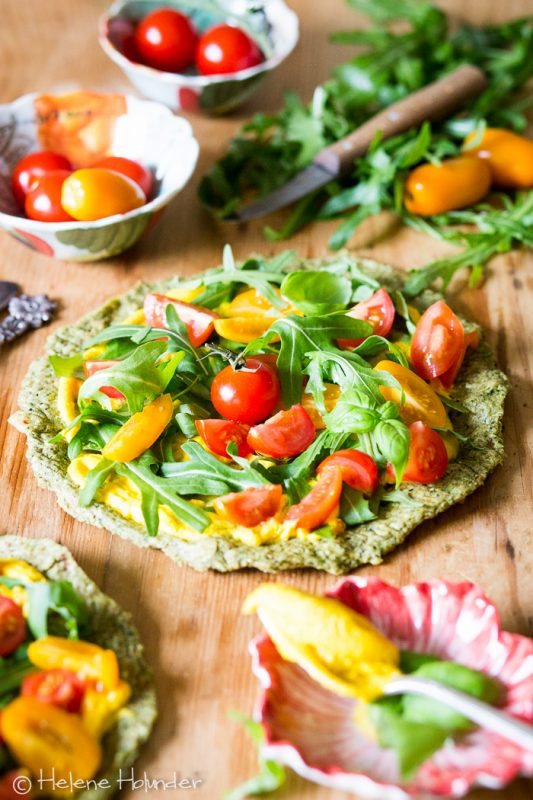 Roh vegane Zucchinipizza, vegan, Helene Holunder