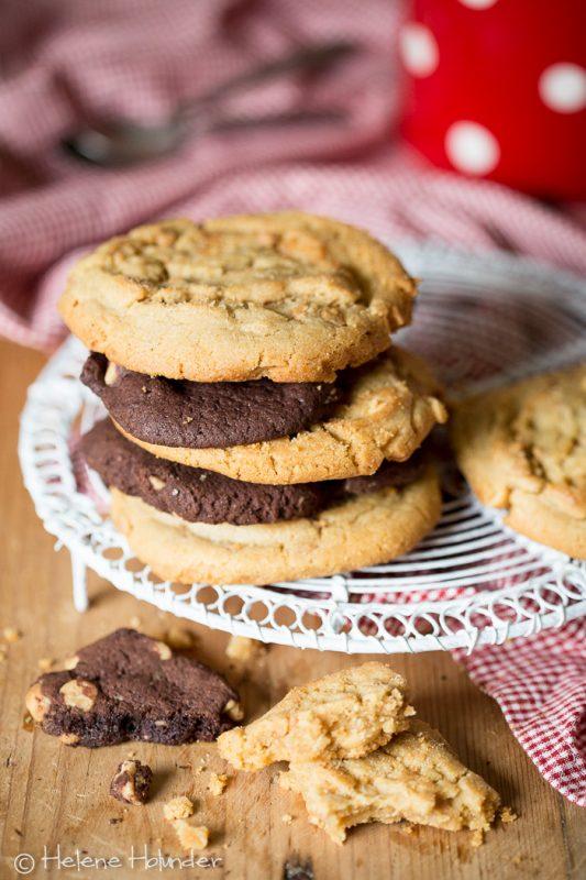 Amerikanische Cookies, vegan, Helene Holunder
