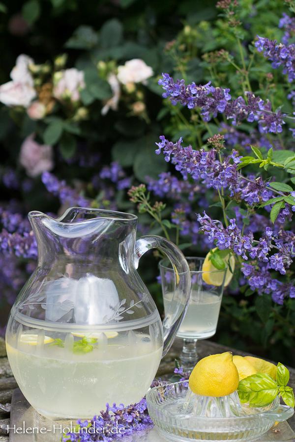 zitronen basilikum limonade selbstgemacht und nat rlich vegan helene holunder. Black Bedroom Furniture Sets. Home Design Ideas