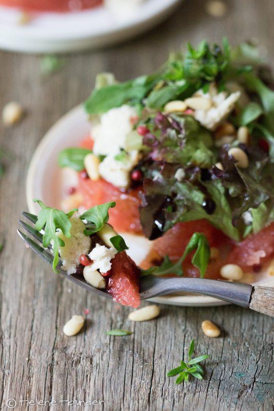 Wassermelonen Salat mit Mandel Feta