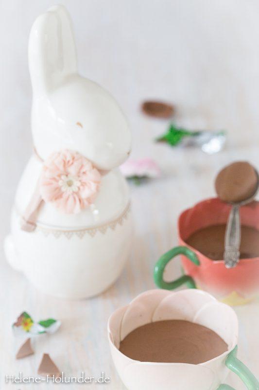 Osterhasen Mousse au Chocolat, vegan, Helene Holunder